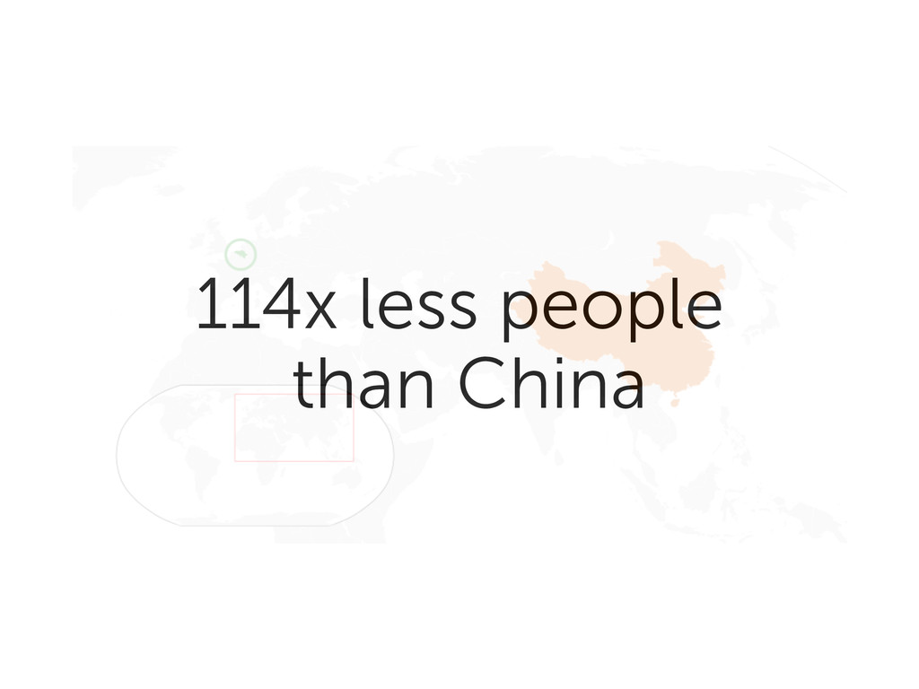 114x less people than China