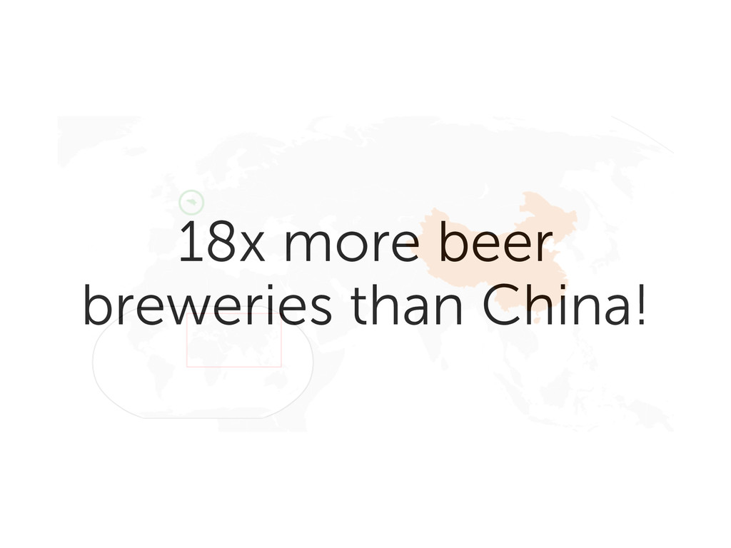 18x more beer breweries than China!