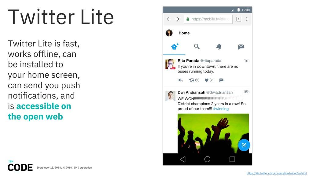 Twitter Lite Twitter Lite is fast, works offlin...