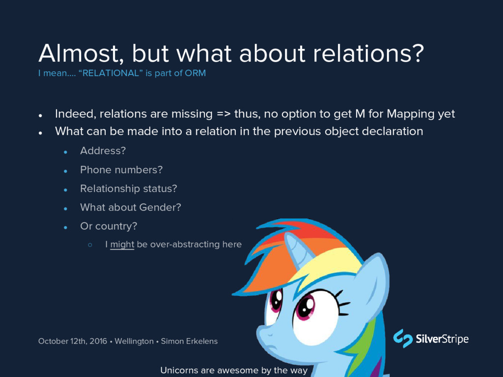 "Almost, but what about relations? I mean…. ""REL..."