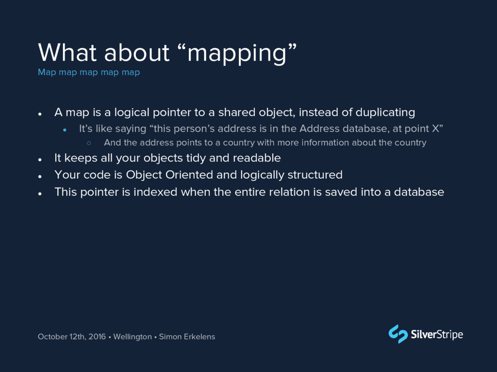 "What about ""mapping"" Map map map map map Octobe..."