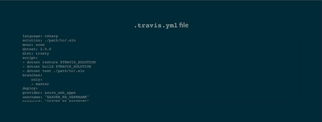 .travis.yml file language: csharp solution: ./pa...
