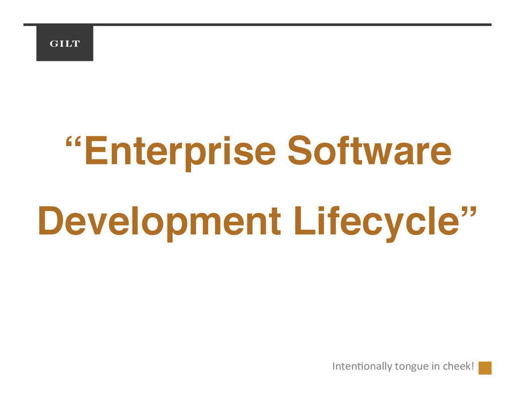 """Enterprise Software Development Lifecycle""! In..."