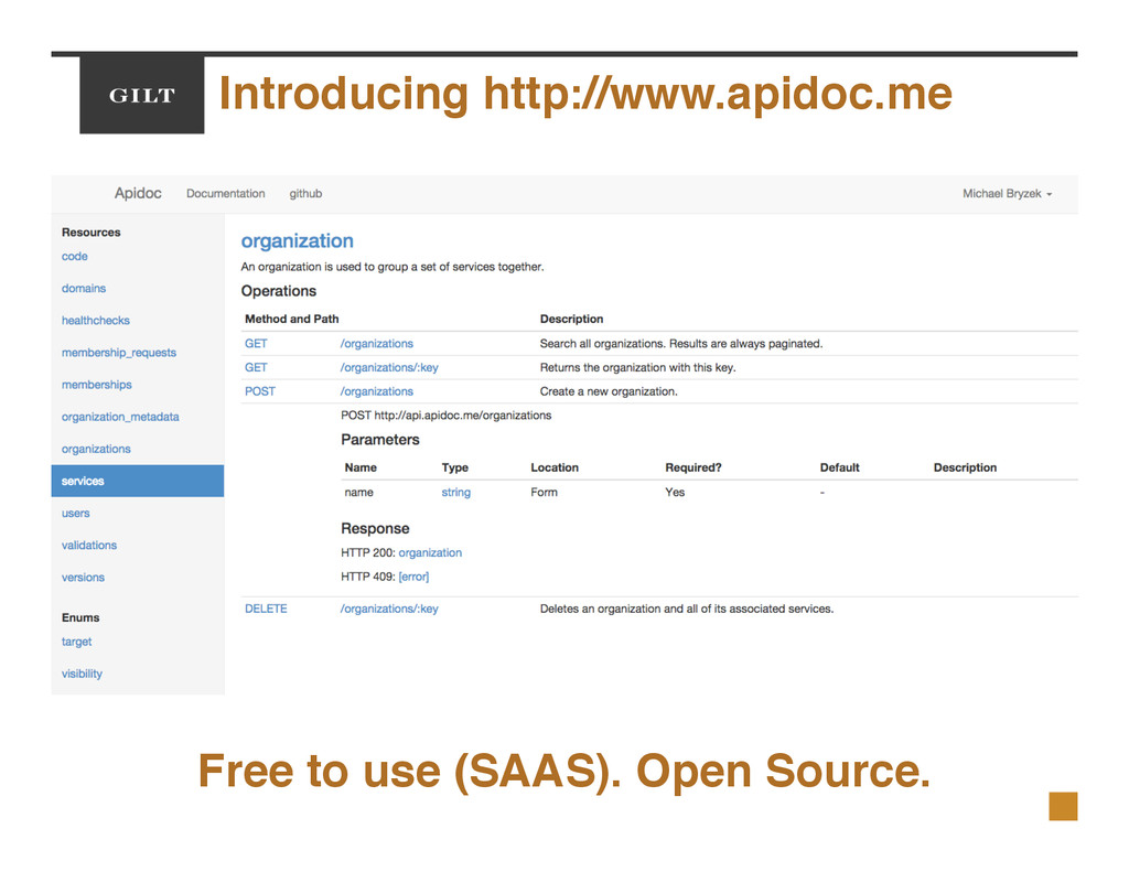 Introducing http://www.apidoc.me! Free to use (...