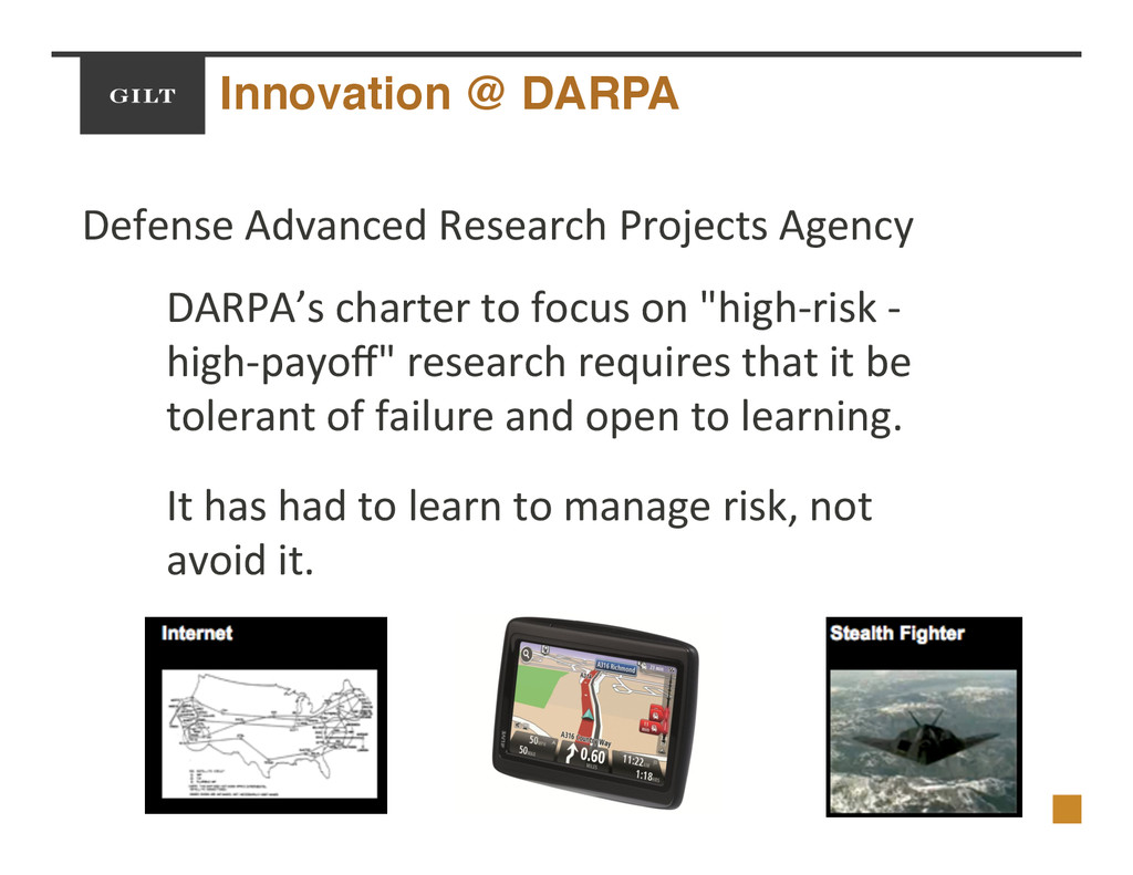 Innovation @ DARPA! Defense$Advanced$Research$P...