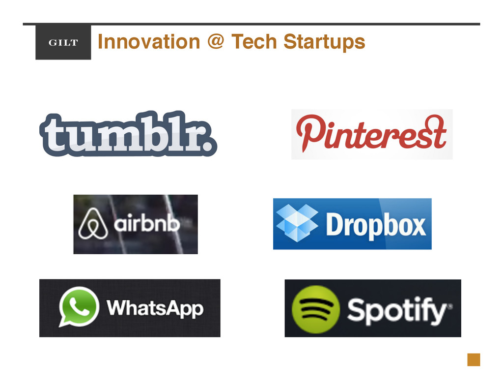 Innovation @ Tech Startups!