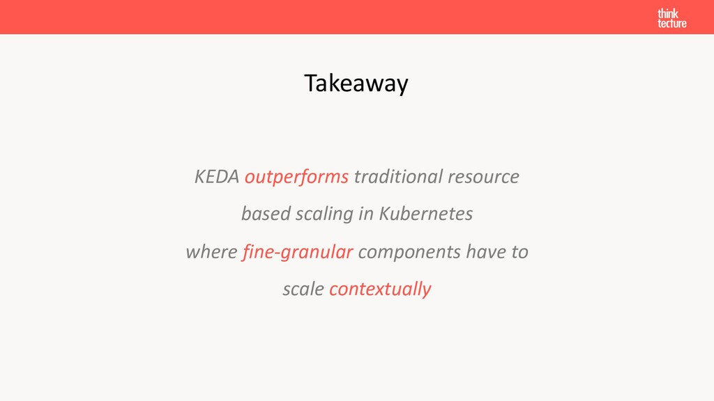 KEDA outperforms traditional resource based sca...