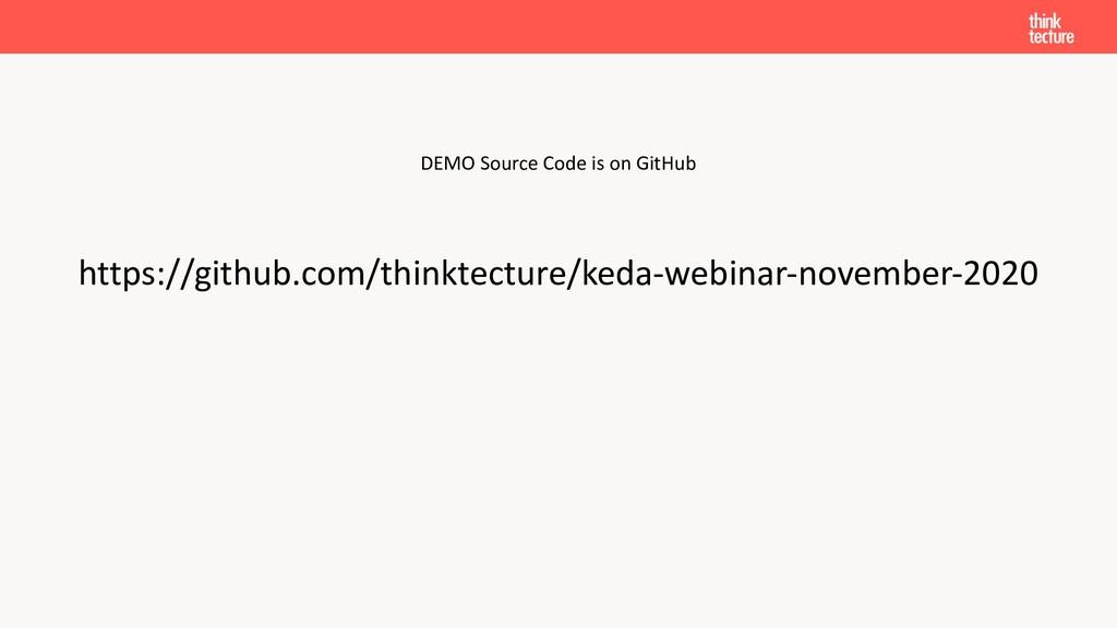 DEMO Source Code is on GitHub https://github.co...
