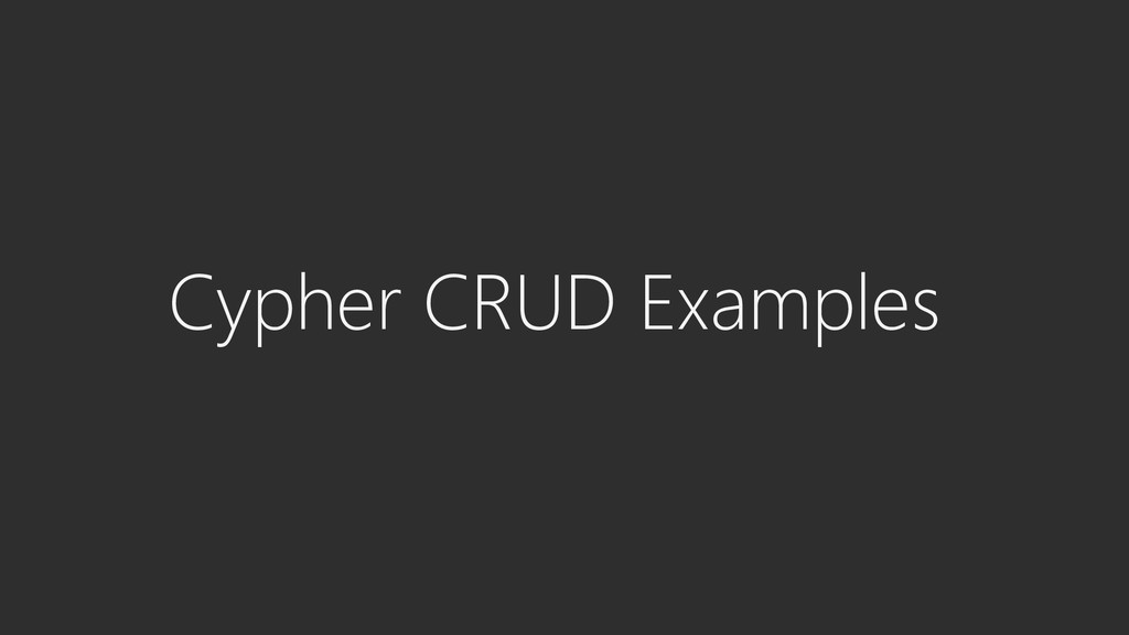 Cypher CRUD Examples