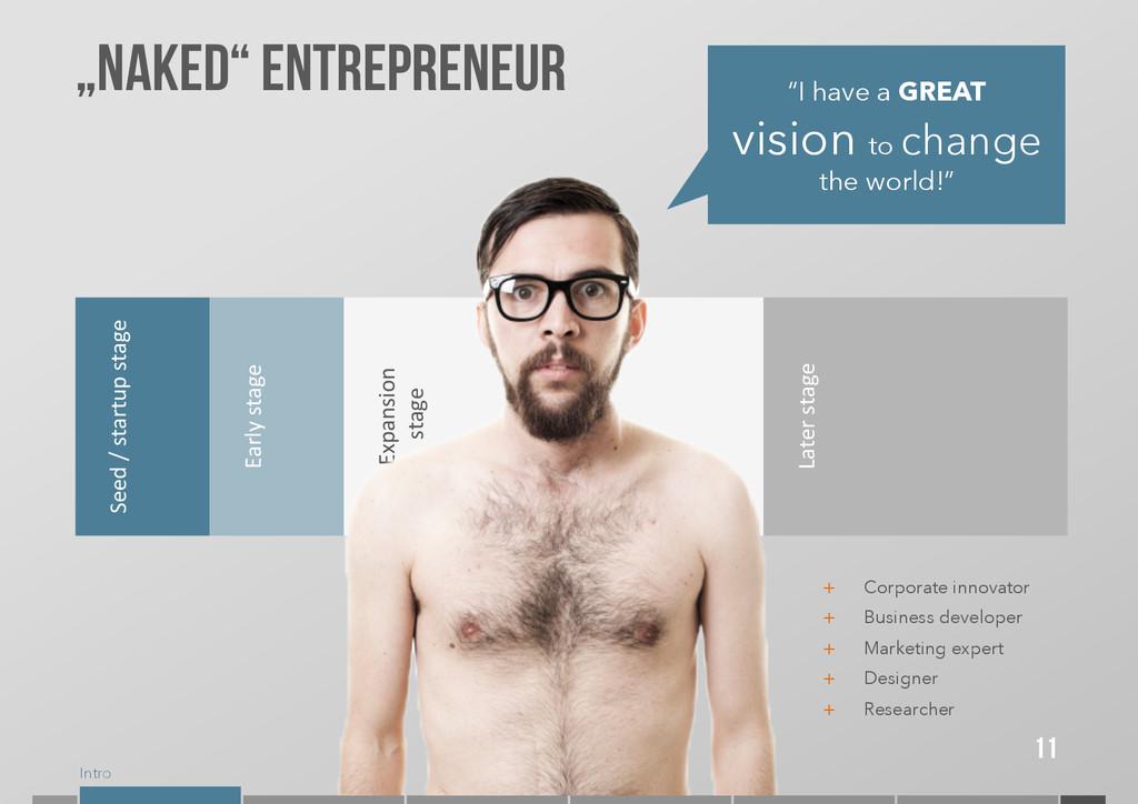 "Intro 11 ""Naked"" entrepreneur Seed / star..."