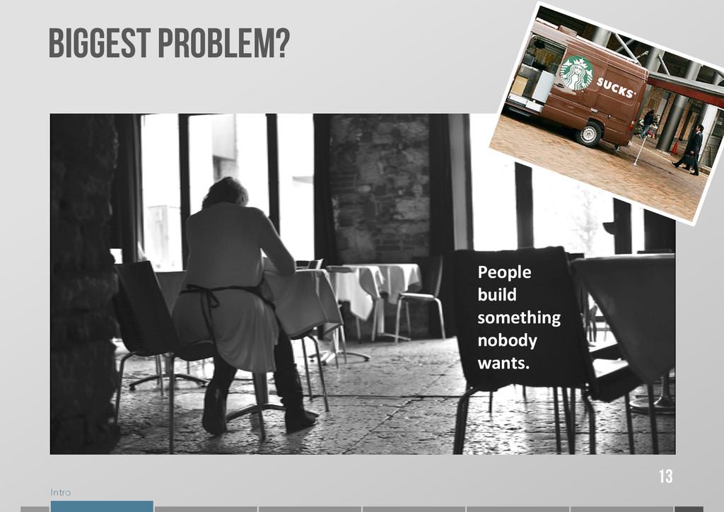 Intro 13 BIGGEST PROBLEM? People  build ...