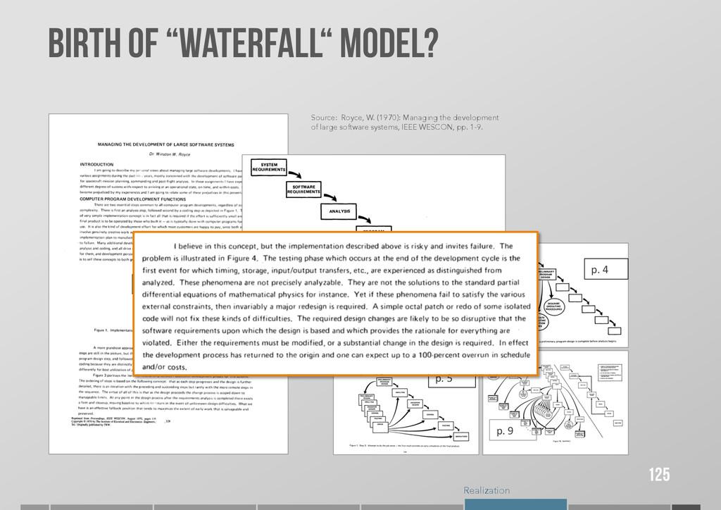 "Realization BIRTH OF ""WATERFALL"" Model? 125 p...."