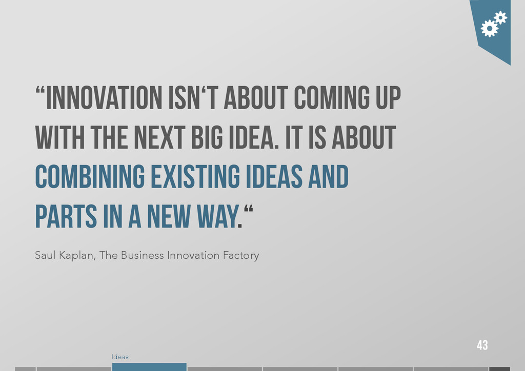 """Ideas """"Innovation isn't about coming up with th..."""