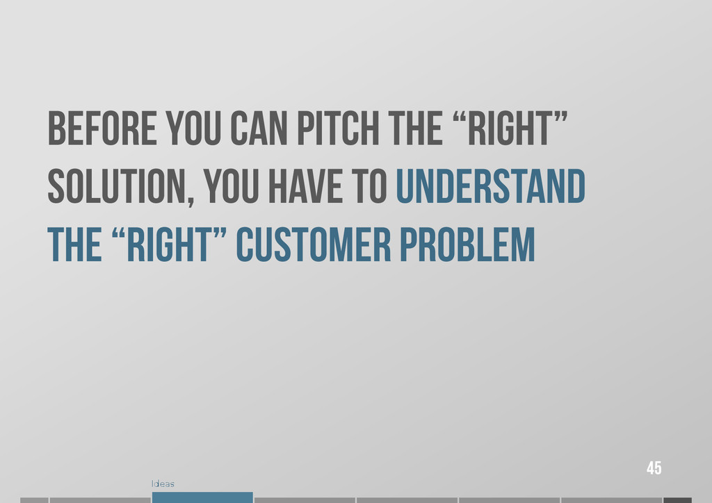 """Ideas Before you CAN pitch the """"right"""" solution..."""