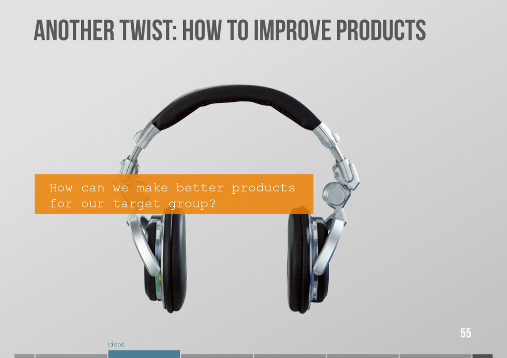 Ideas ANOTHER TWIST: How to improve ProDuCts 55...