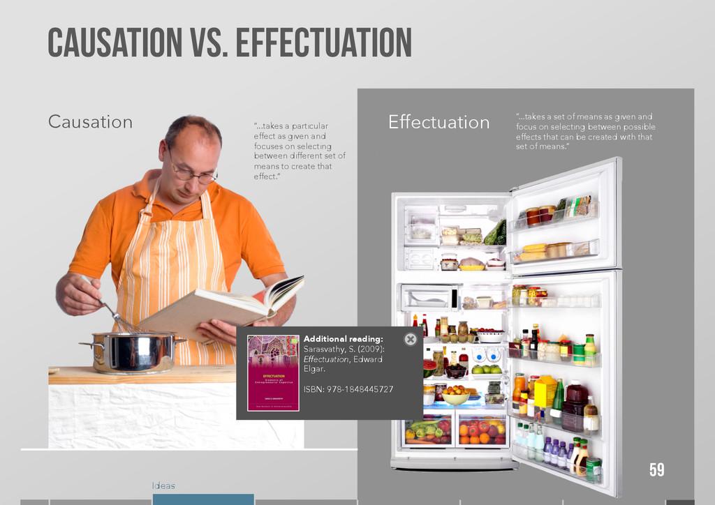 Ideas Causation VS. Effectuation 59 Causation E...