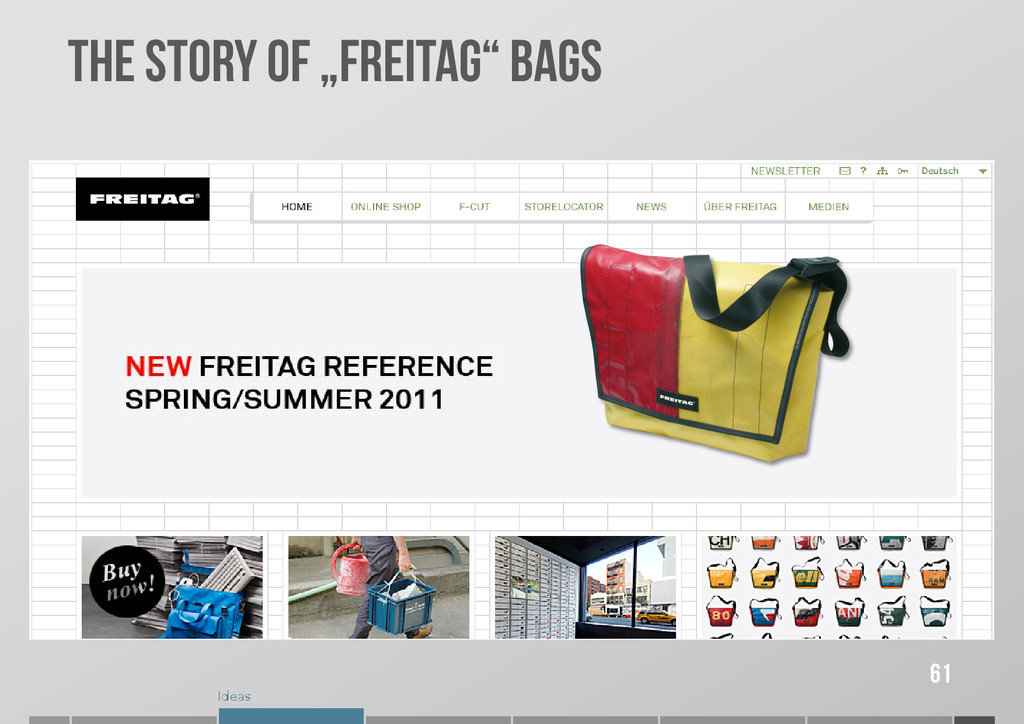 """Ideas THE STORY OF """"FREITAG"""" BAGS 61"""