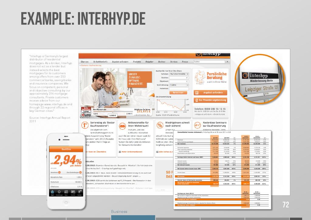 "Business Example: INTERHYP.DE 72 ""Interhyp is G..."