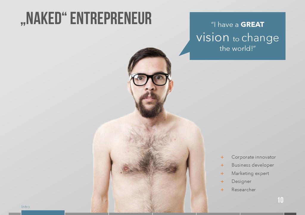"""Intro 10 """"Naked"""" entrepreneur """"I have a GREAT v..."""