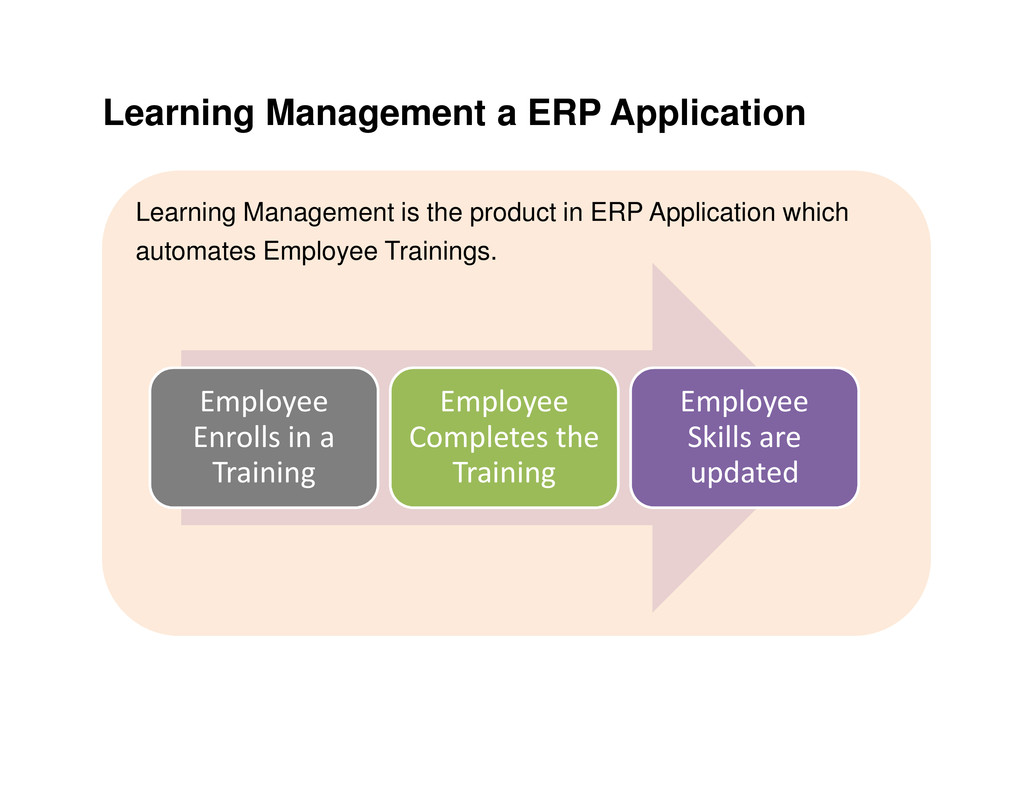 Learning Management a ERP Application Learning ...