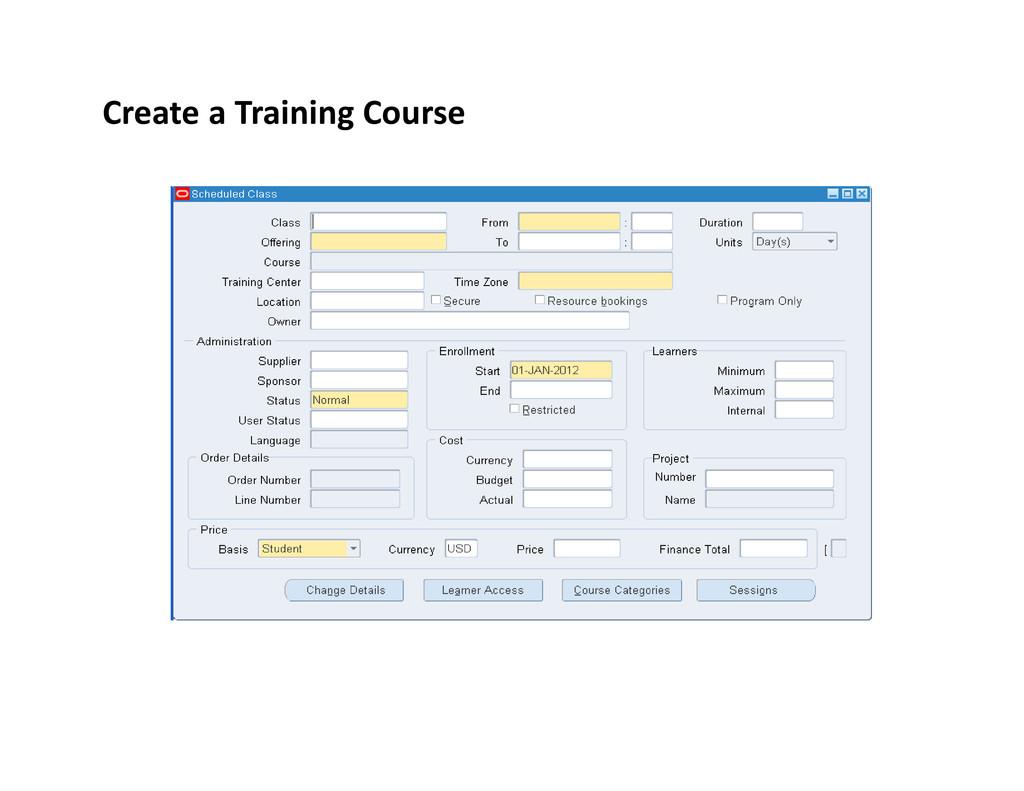 Create a Training Course