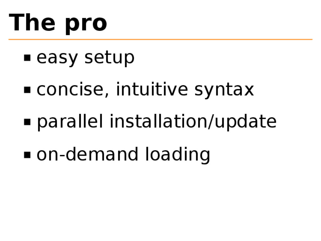 The pro easy setup concise, intuitive syntax pa...