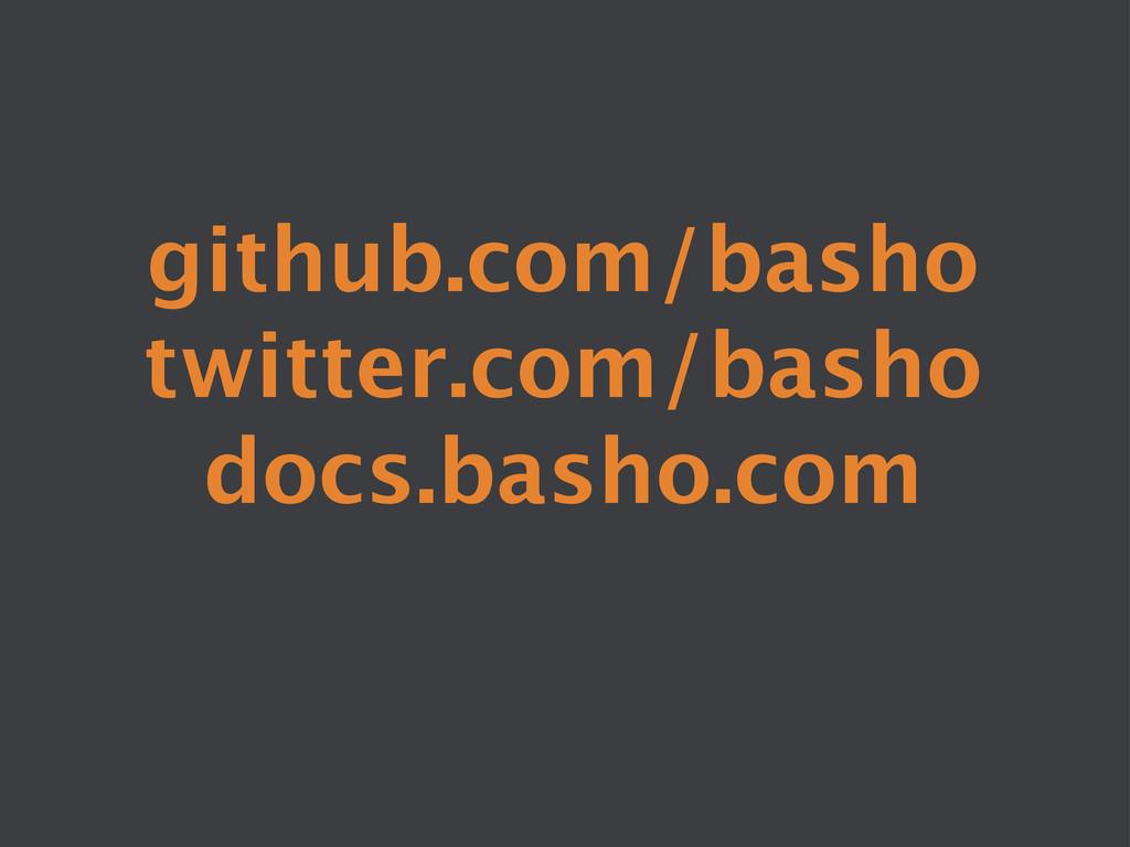 github.com/basho twitter.com/basho docs.basho...