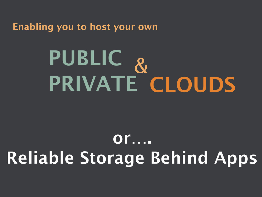 Enabling you to host your own PUBLIC PRIVATE...