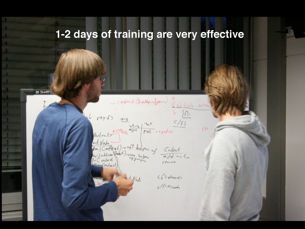 1-2 days of training are very effective