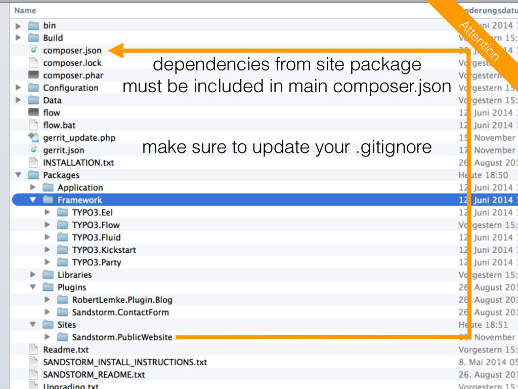 dependencies from site package must be included...