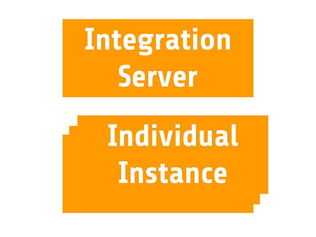 Integration Server Individual Instance Individu...