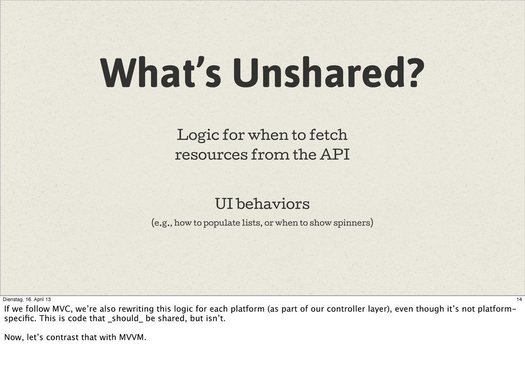 What's Unshared? Logic for when to fetch resour...