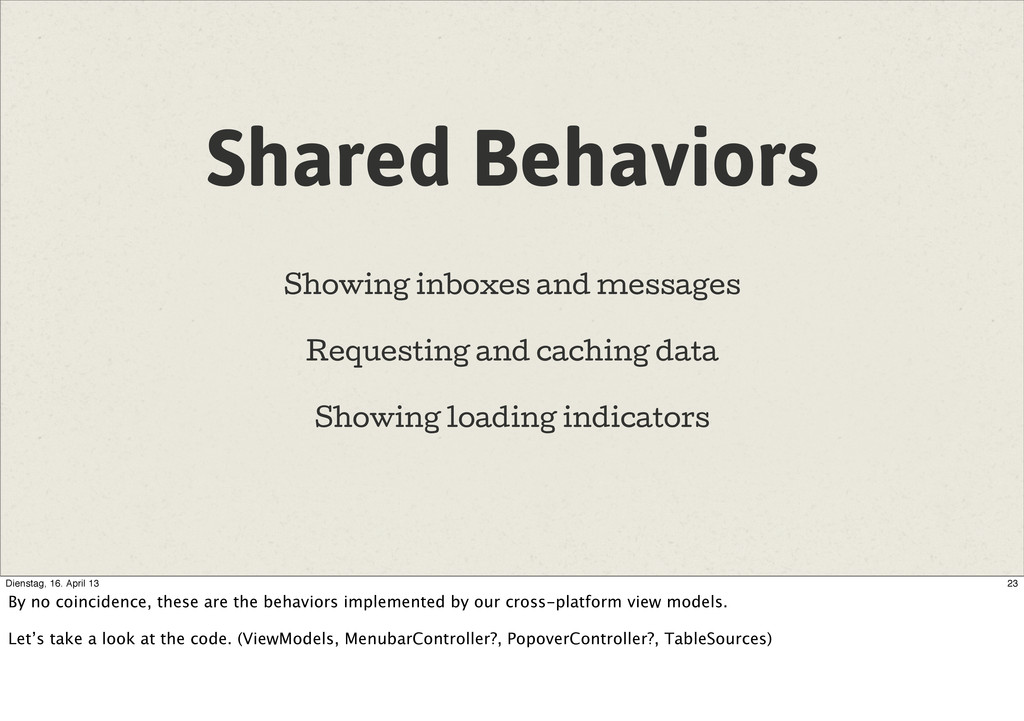 Shared Behaviors Showing inboxes and messages R...