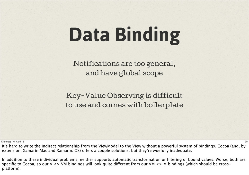Data Binding Notifications are too general, and...