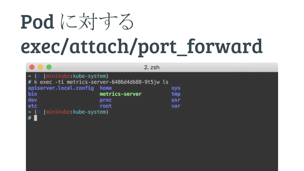 Pod に対する exec/attach/port_forward