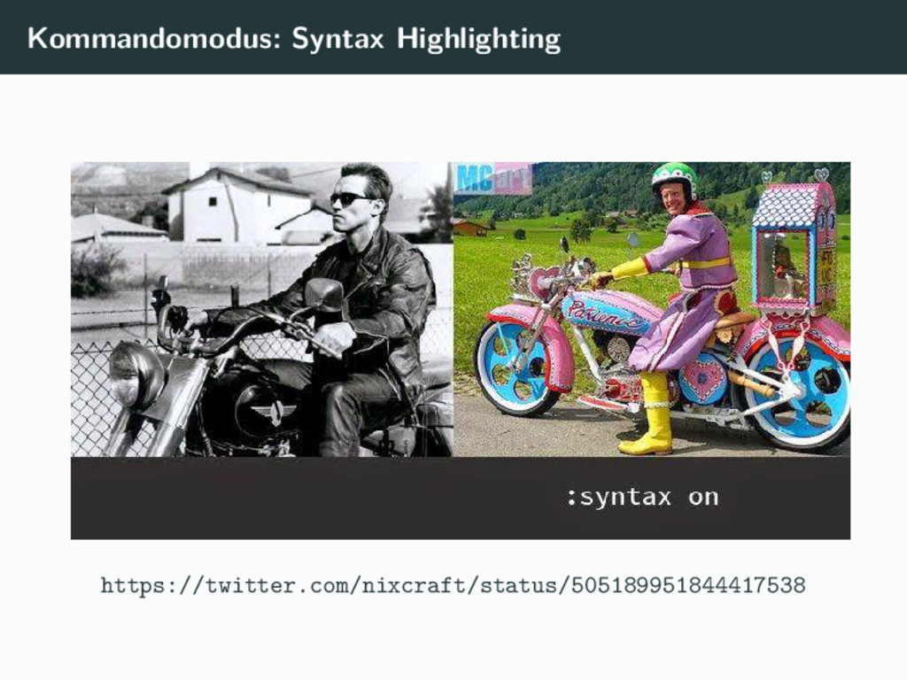 Kommandomodus: Syntax Highlighting https://twit...