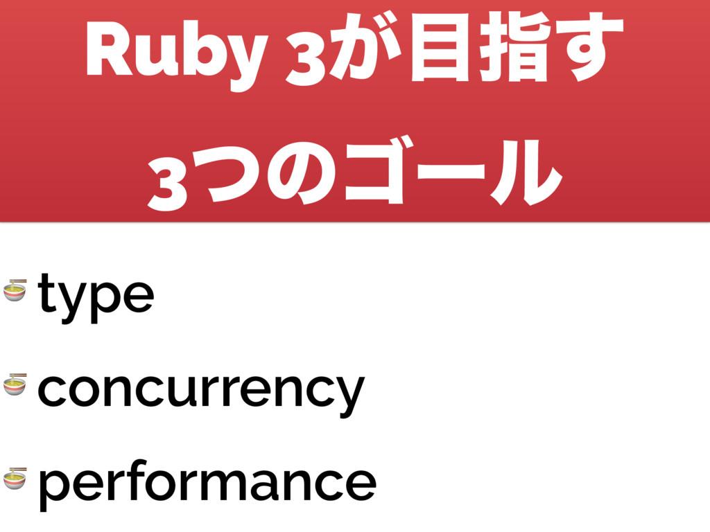 Ruby 3͕ࢦ͢ 3ͭͷΰʔϧ  type  concurrency  performa...