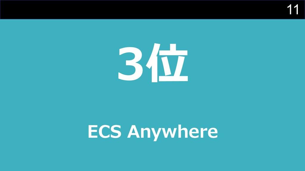 11 3位 ECS Anywhere