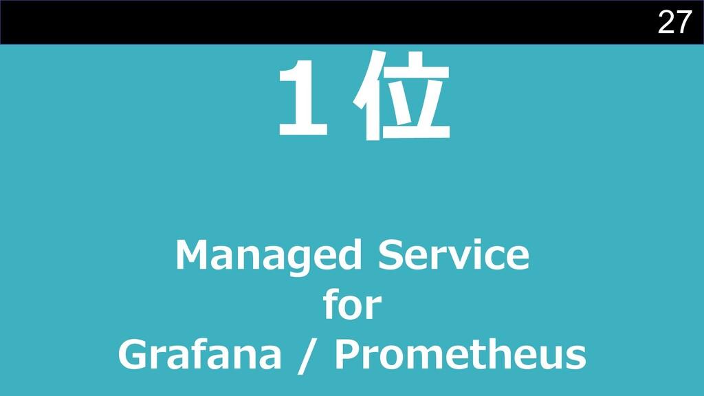 27 1位 Managed Service for Grafana / Prometheus