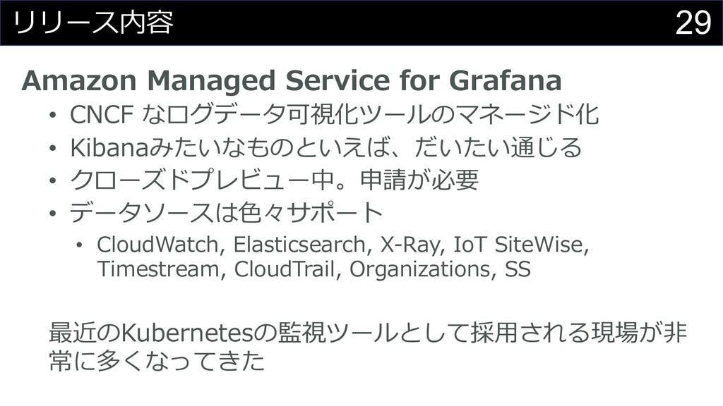 29 リリース内容 Amazon Managed Service for Grafana • ...