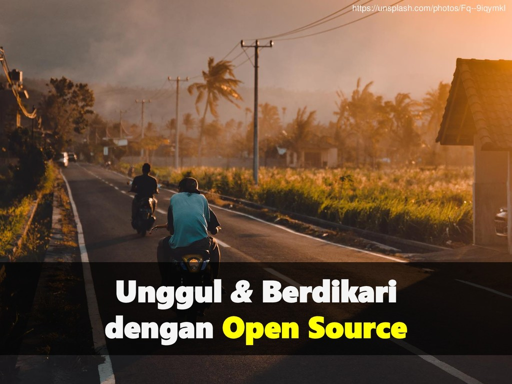 Unggul & Berdikari dengan Open Source https://u...