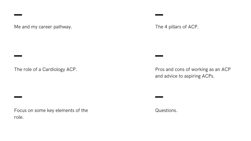 Pros and cons of working as an ACP and advice t...