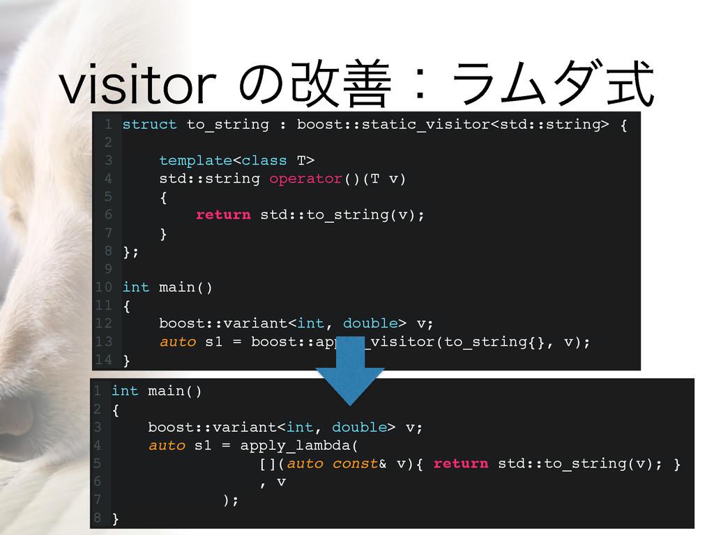 WJTJUPSͷվળɿϥϜμࣜ 1 struct to_string : boost::st...