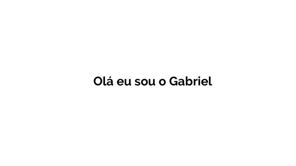Olá eu sou o Gabriel