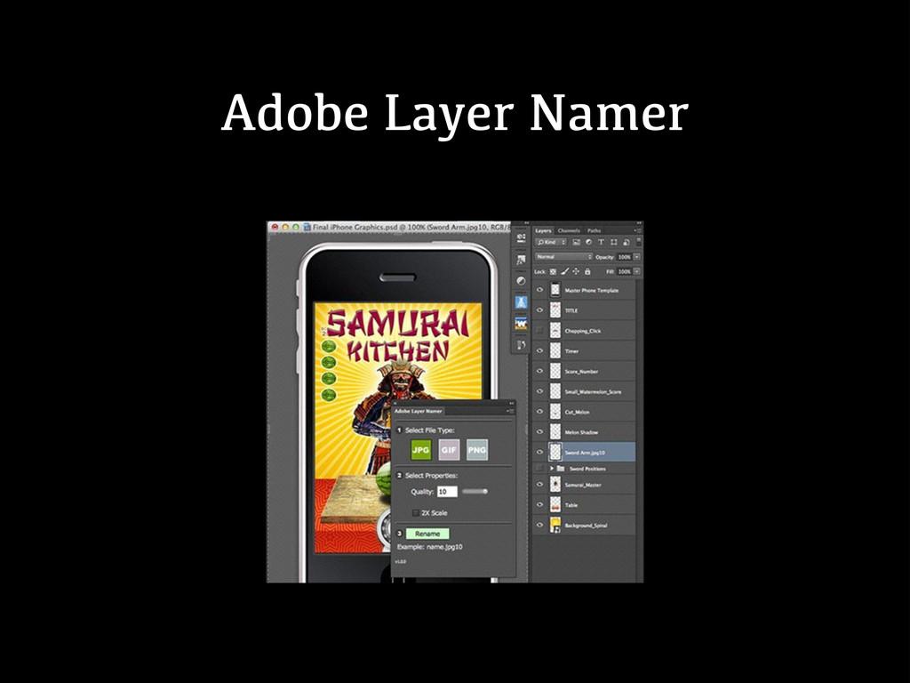 Adobe Layer Namer