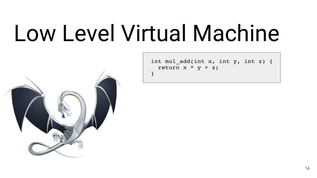 Low Level Virtual Machine 14