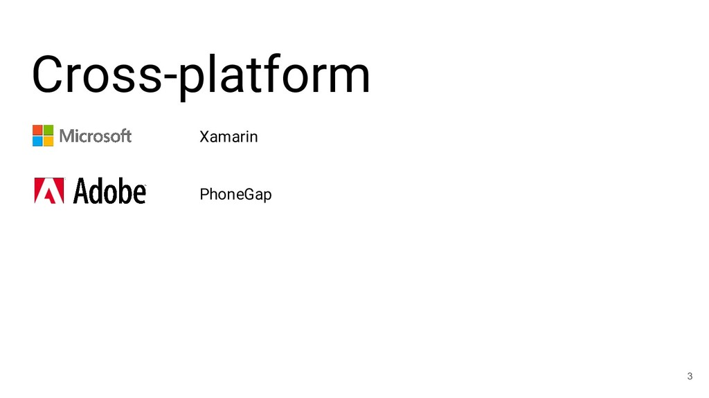 Cross-platform 3 Xamarin PhoneGap