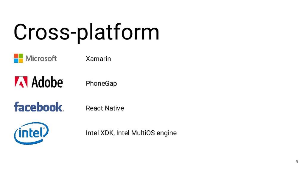 Cross-platform 5 Xamarin PhoneGap React Native ...