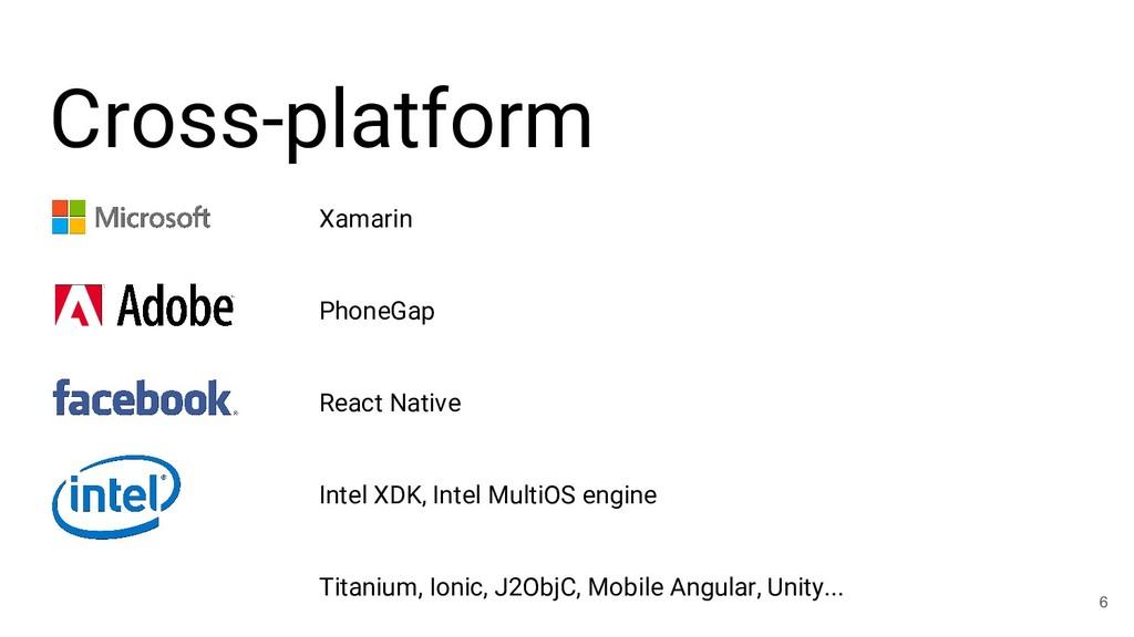 Cross-platform 6 Xamarin PhoneGap React Native ...