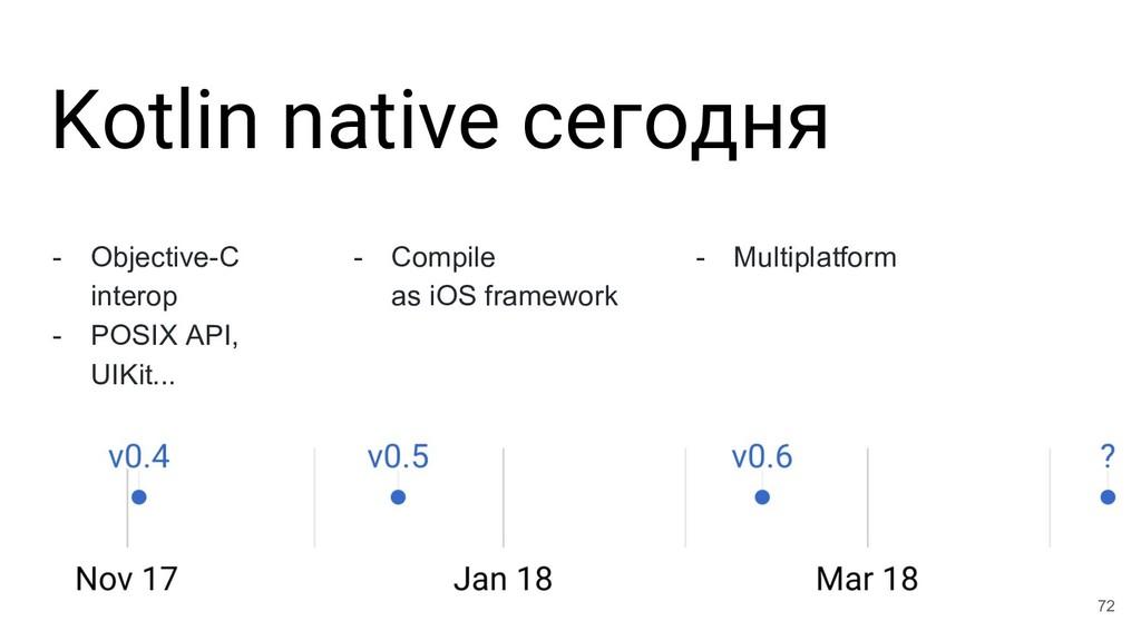 Kotlin native сегодня 72 - Objective-C interop ...